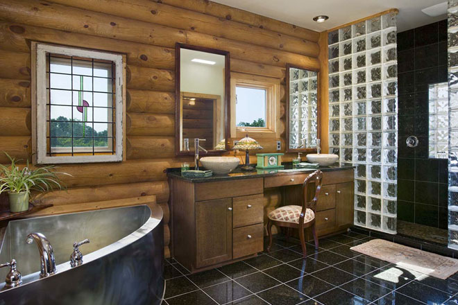 Wooden Western Bathroom Design