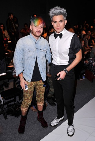 Adam Lambert at the Falguni & Shane Peacock Spring Fashion Show