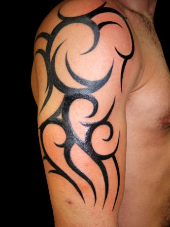 Best Tribal Arm Tattoo Design for Guys 2012