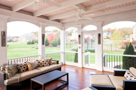 Brentwood screen porch white open airy design