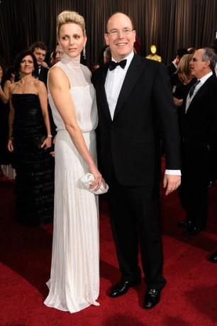 Charlene Wittstock Prince Albert in 2012 Oscars Red Carpet
