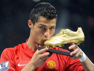 Cristiano Ronaldo showing the FIFPro award