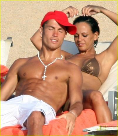 Cristiano Ronaldo with Girlfriend on Beach