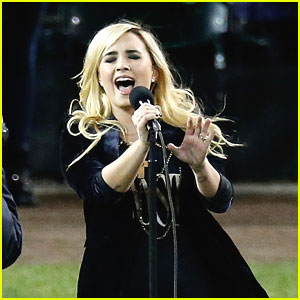 Demi Lovato Sings National Anthem at World Series 2012