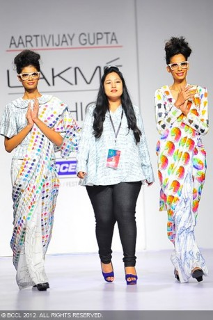 Designer Aartivijay Gupta during the Day 2 of Lakme Fashion Week