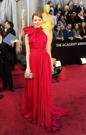 Emma Stone in 2012 Oscars Red Carpet