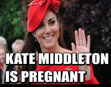 Kate Middleton is pregnant with Prince William's first child