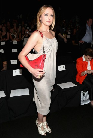 Kaylee Defer at the Rebecca Minkoff Spring Fashion