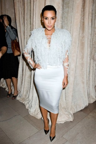 Kim Kardashian at the Marchesa Spring Fashion Show