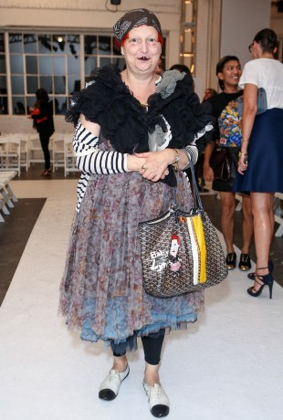 Lynn Yaeger at the Altuzarra Spring Fashion Show