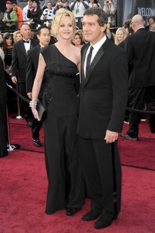 Melanie Griffith Antonio Banderas in 2012 Oscars Red Carpet