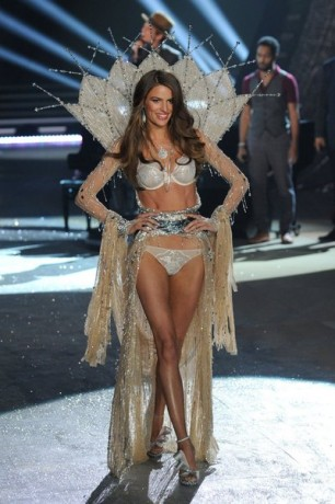 Model Cameron Russell walks the runway during the Victoria's Secret 2012 Fashion Show