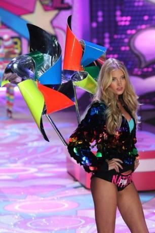 Model Elsa Hosk walks the runway during the Victoria's Secret 2012 Fashion Show