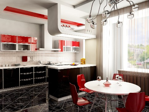 Modern Kitchen Design with Best Lighting 2012