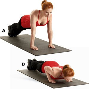 Pushup with sandbag drag
