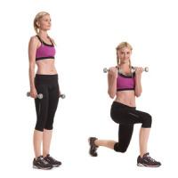 Rotational Reverse Lunge and Balance