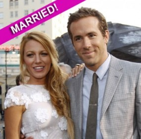 Ryan Reynolds and Blake Wedding