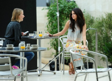 Selena Gomez at lunch