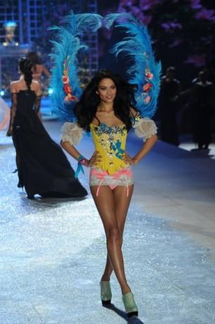 Shanina Shaik walks the runway during the Victoria's Secret 2012 Fashion Show