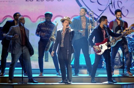 Singer Bruno Mars performs during the 2012 Victoria's Secret Fashion Show
