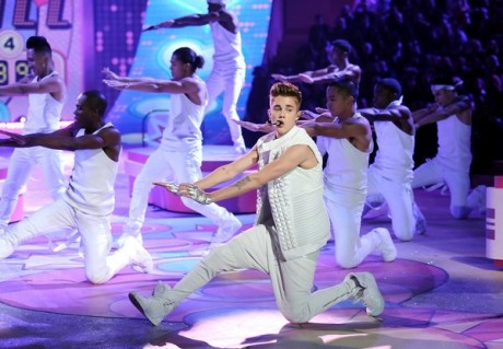 Singer Justin Bieber performs during the 2012 Victoria's Secret Fashion Show