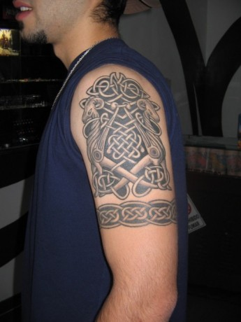 Tribal Arm Tattoo New Style for College Boys