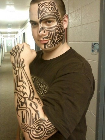 Tribal Arm Tattoo Pattern for Teenager Boys