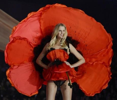 Toni garrn during the 2012 Victoria's Secret Fashion Show