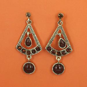 brown coffee earrings vintage women jewelry
