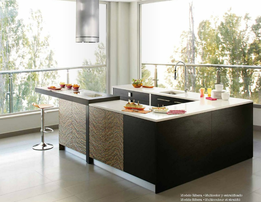 kitchen modern Martica kitchen with amazing lighting designed by studiousness black brown modern kitchen design