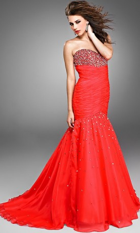 Beautiful Red evening dresses 2012 women