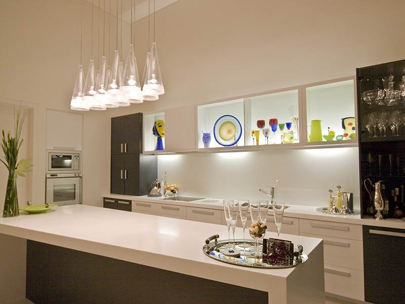 modern kitchen interior lighting design ideas
