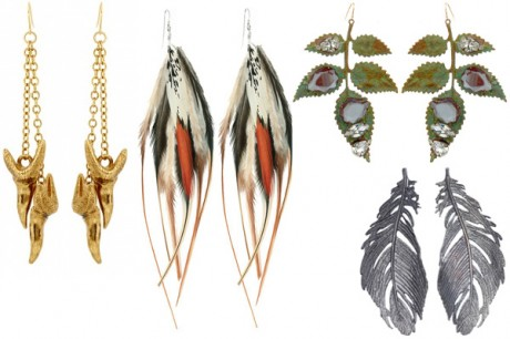 Nature inspired earrings for women