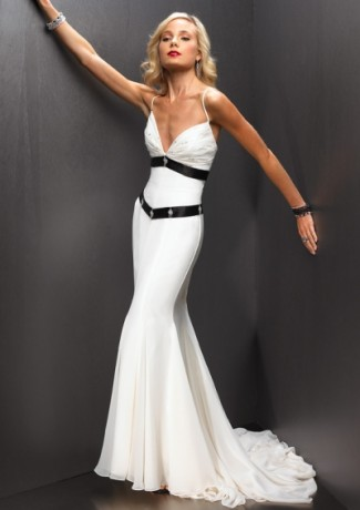 White dress gown party eve casual women