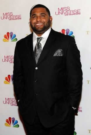 Major League Baseball player and pageant judge Pablo Sandoval