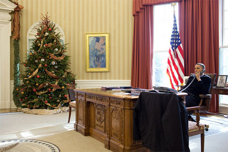 Barack Obama's Activity at His Room