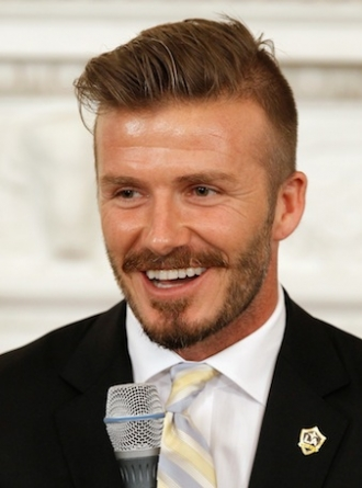 British soccer star David Beckham