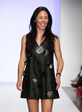 Designer Amelia Toro walks the runway at Amelia Toro Spring 2009 fashion show