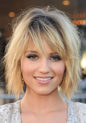 Dianna Agrons Mussy Bob Hair Style