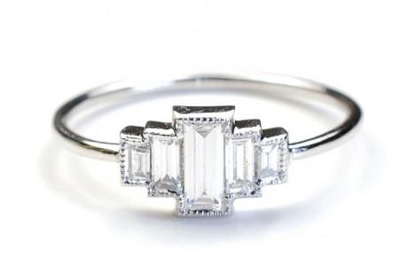 Empire Diamond Engagement Ring