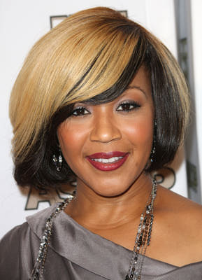 Erica Campbells Two Toned Long Bob Hair Style