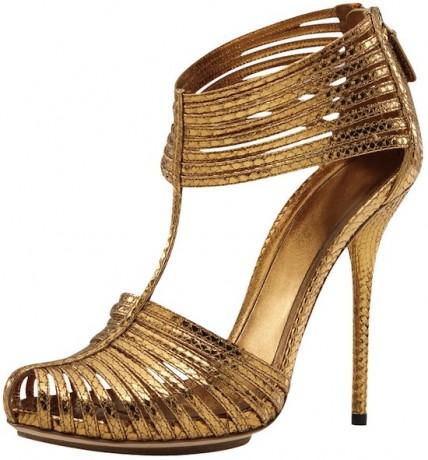 Gucci Inga Metallic Sandal