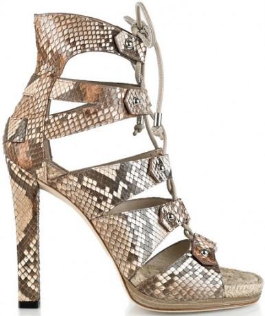 Gucci Jasmine lace up python sandal
