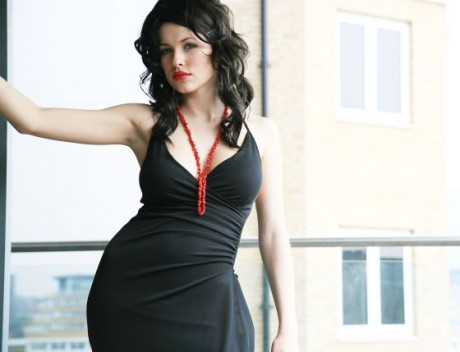Iga Wyrwal Black Dress 2012