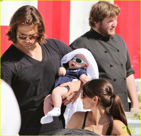 Jared Padalecki and Wife Genevieve Take Their Son Thomas to the Vancouver Food Truck Festival