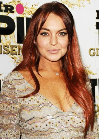 Lindsay Lohan attends the Mr. Pink Ginseng Drink launch party