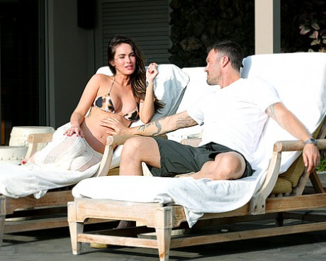 Megan Fox and husband Brian Austin Green in Hawaii