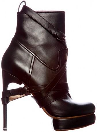 Nicholas Kirkwood leather buckle platform boot