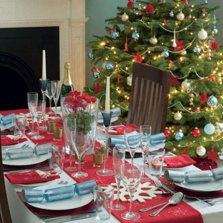 Christmas Tree Decorating Table