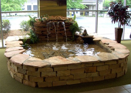 indoor fountains for home with wall concept and natural
